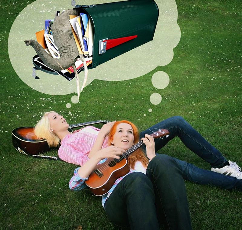 MonaLisa Twins dreaming of fan mail